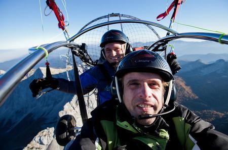 Tandem Powered Paragliding over Bled Lake