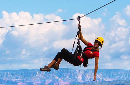 Zip Line Tour at Out of Africa Wildlife Park in Camp Verde