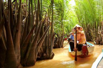 Mekong Delta River Cruise Including Lunch and Vinh Trang Pagoda