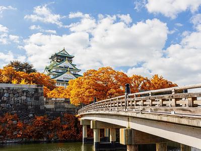 Osaka Afternoon Walking Tour with Osaka Castle and Nakanoshima Cruise