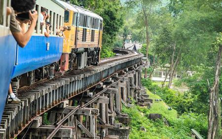 River Kwai Bridge, Death Railway Tour, Elephant Trek and Bamboo Raft River Cruise From Bangkok