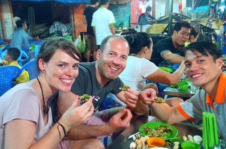 Vietnamese Street Food Night Tour in Ho Chi Minh City by Motorbike