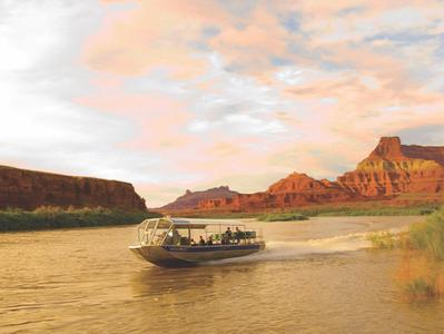 Colorado River Sunset Jet Boat Tour with Dinner