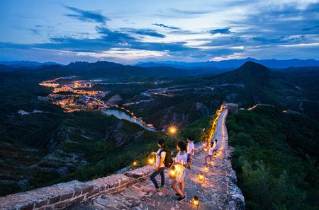 Private Evening Tour: Illuminated Gubei Water Town and Simatai Great Wall
