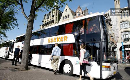 Amsterdam City Sightseeing Tour by Bus and Canal Cruise