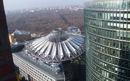 Berlin from above Potsdamer Platz and Kollhoff Tower