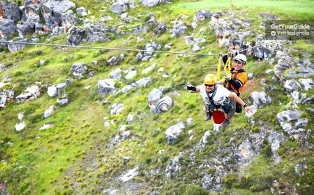 Cusco: Half-Day Zip Line Adventure and Chinchero Tour