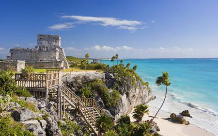 From Cancun: Full-Day Coba, Tulum Ruins, Cenote & Beach
