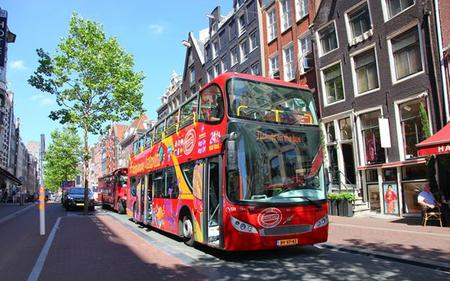 Amsterdam City Hop-On Hop-Off Tour with Optional Canal Cruise