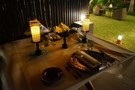 Romantic Dinner In Cozy Cabana By Sanur Beach