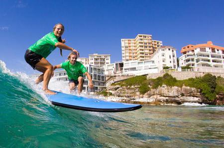 Surfing Lessons on Sydney's Bondi Beach