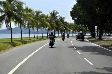 Motorbike tour in scenic mountain views