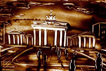 Sand-Art Show in Berlin: The Story of Berlin