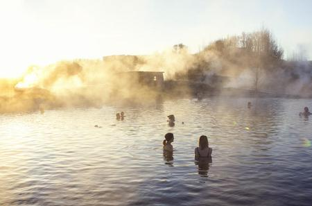 Secret Lagoon Spa, Buffet Dinner and Northern Lights Hunt from Reykjavik