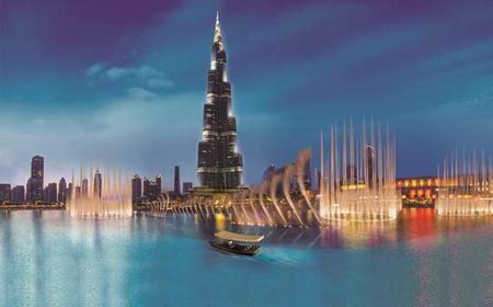 Dubai: Fountain Show and Lake Ride by Traditional Boat