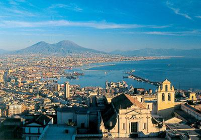 From Naples: Half-Day City Walking & Bus Tour Gulf of Naples
