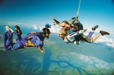 Cairns Sky Dive, Great Barrier Reef Helicopter Tour and Cruise