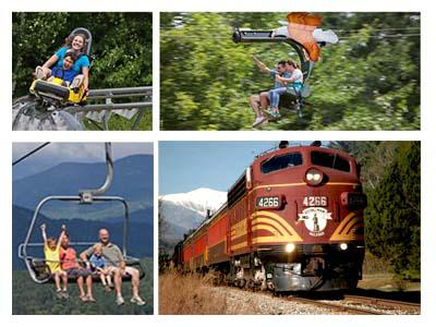 1-Day Adventure Park and Conway Scenic Railroad from Boston