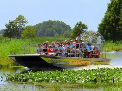 Half Day Airboat Ride at Wild Florida with Transportation from Orlando