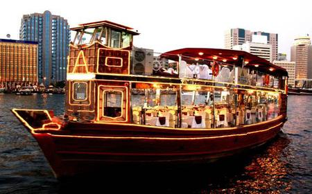 Dubai: 3-Hour Evening Dhow Boat Cruise with Dinner