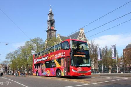 Amsterdam Hop-On Hop-Off Bus Tour Ticket