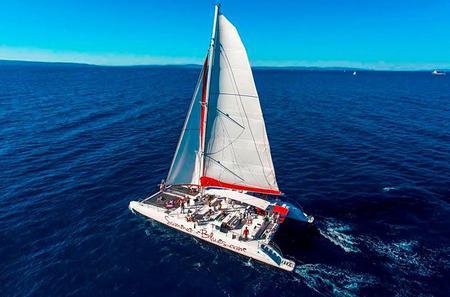 Full-Day Mega Catamaran Excursion to Hvar, Pakleni Islands, and Brac