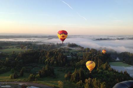 Private Balloon Flight and Wine Tour