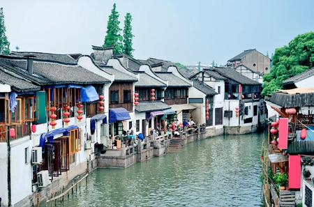 Coach Tour: Zhujiajiao Water Town Plus Huangpu River Dinner Cruise