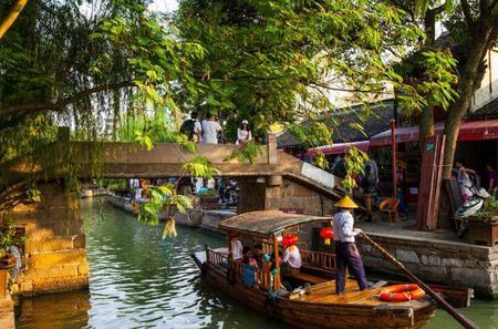 Shanghai Group Tour: Zhujiajiao Water Town And Huangpu River Night Cruise With Dinner