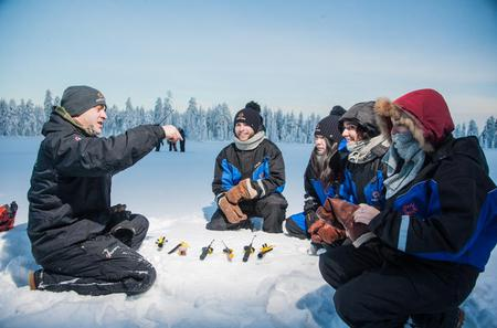 Lapland Snowmobiling, Ice Fishing and Tasty Food in Rovaniemi