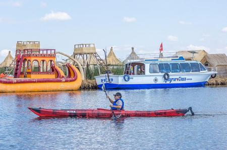 Kayaking in Uros Islands from Puno