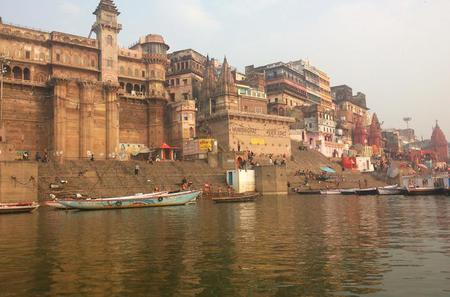 Evening Excursion: Ganga River Walking Tour with Diner Overlooking the River in Varanasi