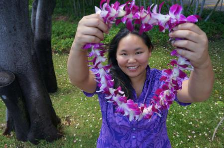 Honolulu Honeymoon Airport Lei Greeting