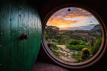 Waitomo Caves and Lord of the Rings Hobbiton Movie Set Tour including Lunch from Hamilton