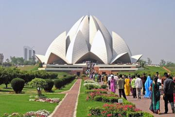 Afternoon Tour of Delhi Including The Lotus Temple, ISKCON and Connaught Place with Dinner