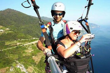 Paragliding over the Cinque Terre