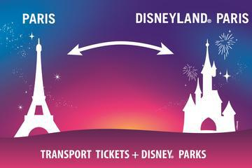 Disneyland Paris One Park Entrance Ticket with Round-Trip Train from Paris