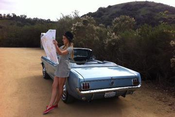 One-Way Road Trip by Classic 1965 Mustang Convertible or Fastback