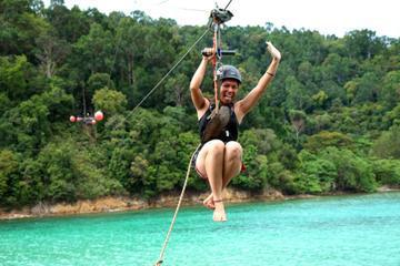 Private Tour: Gaya Island Hike and Zipline Adventure from Kota Kinabalu