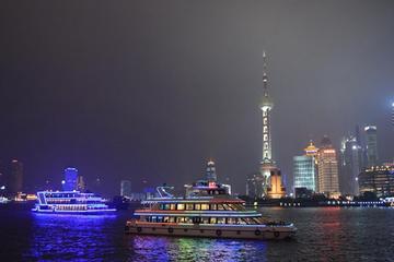 Private Night Tour of Huangpu River Cruise, the Bund and Nanjing Road