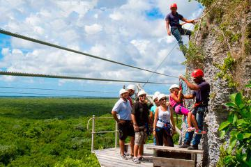 Hoyo Azul and Zipline Adventure in Punta Cana