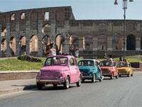Rome Tour by Vintage Fiat 500 with Wine Tasting