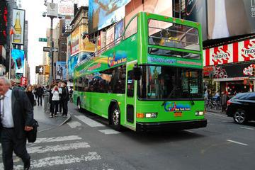 All City NYC Hop-On Hop-Off Double Decker Bus Pass and Downtown Liberty Cruise