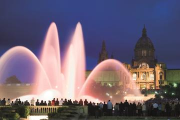 Guided Night Tour with The Magic Fountain by Bus in Barcelona