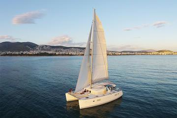Luxury Catamaran Cruise from Athens with Traditional Greek Meal and BBQ