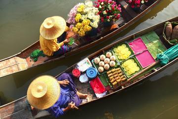 Private Tour: Damnoen Saduak Floating Market and Bangkok City Temples