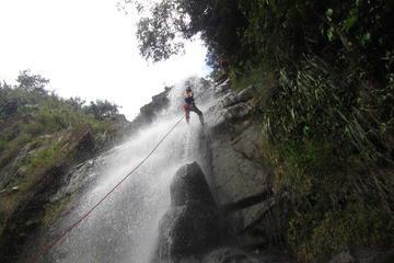 Waterfall Rappelling at Antelope Falls in Dangriga