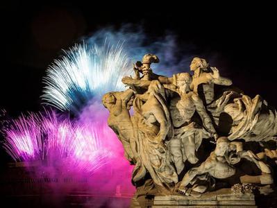 Trevi Fountain Roman Forum Colosseum Circo Massimo Panoramic Night Tour with Trastevere Walking Tour