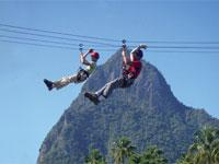 Tout Bagay - Full Day Catamaran Tour with Zip Line from St. Lucia