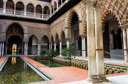 Seville Sightseeing Tour: Royal Alcazar Palace, Plaza de Espana, Seville Cathedral and Santa Cruz Quarter